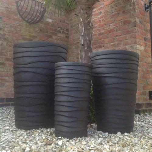 Waltham Pot Set of 3 in Black