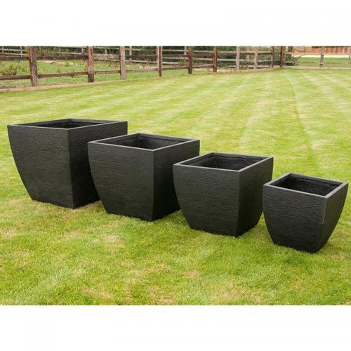 Orston Pot Planter Set of 4 in Black