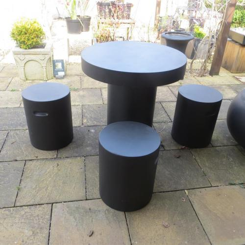 Barrowby Table Set - in Black