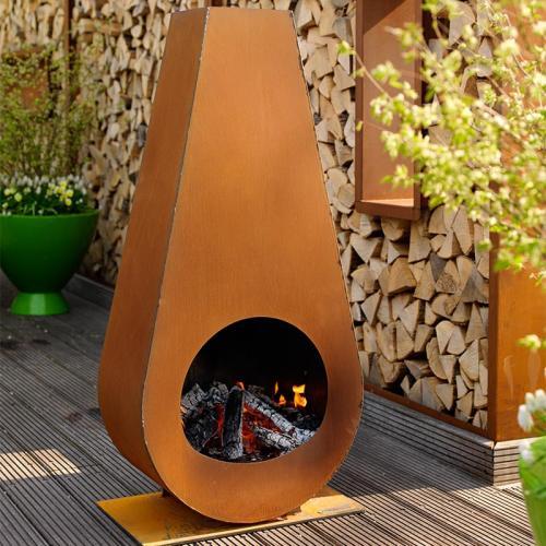 Zeno Goccia Outdoor Fireplace