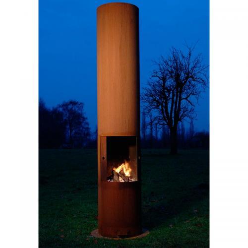 Zeno Tubo Outdoor Fireplace