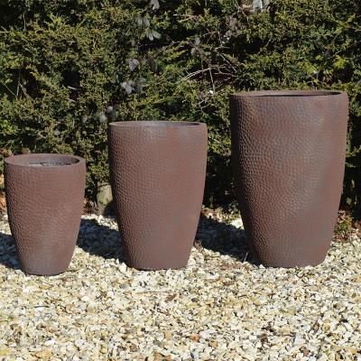 Cottesmore Pot Planter in Rust - Set of 3
