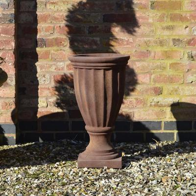 Overton Urn Planter in Rust - Medium