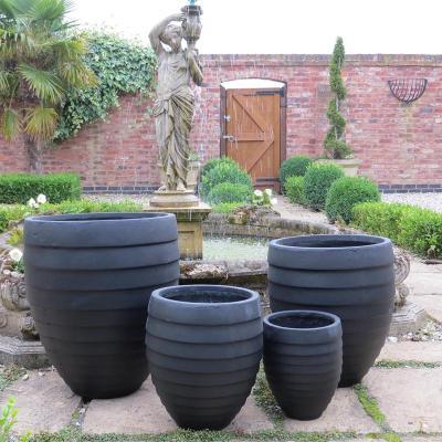 Sproxton Pot Set of 4 in Black