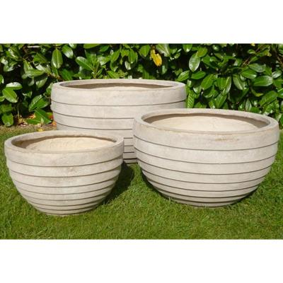 Croxton Pot Set of 3 in Stone