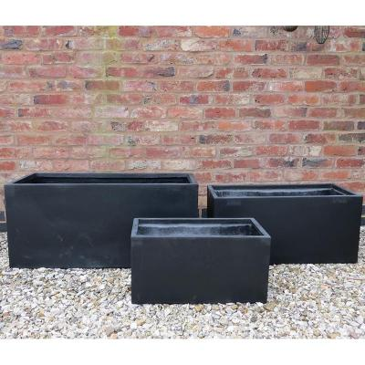 Allington Pot Set of 3 in Black
